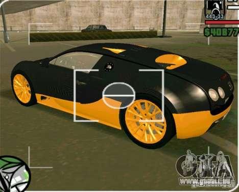 Bugatti Veyron Super Sport final pour GTA San Andreas laissé vue