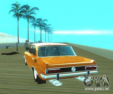 Moskvich 2140 Dragster pour GTA San Andreas sur la vue arrière gauche