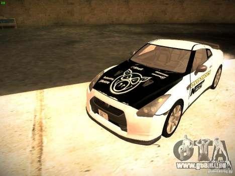 Nissan GT-R pour GTA San Andreas vue de dessus