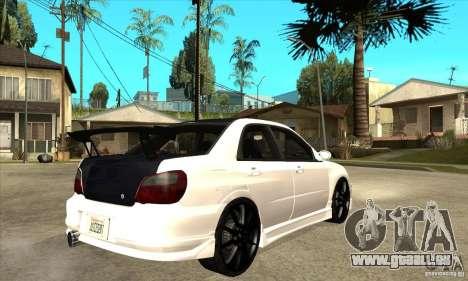 Subaru Impreza WRX STI für GTA San Andreas zurück linke Ansicht
