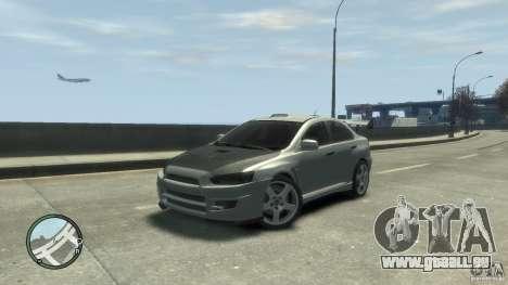Mitsubishi Lancer Evo X Drift für GTA 4 hinten links Ansicht