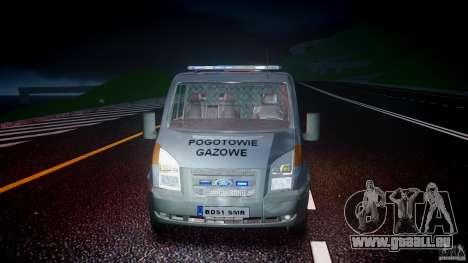 Ford Transit Usluga polski gazu [ELS] pour GTA 4 vue de dessus