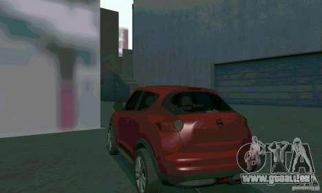 Nissan Juke pour GTA San Andreas vue intérieure