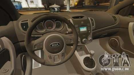 Kia Cerato Koup Edit pour GTA 4 est une vue de l'intérieur