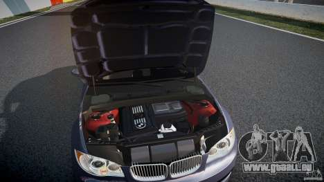 BMW 135i Coupe v1.0 2009 pour GTA 4 vue de dessus