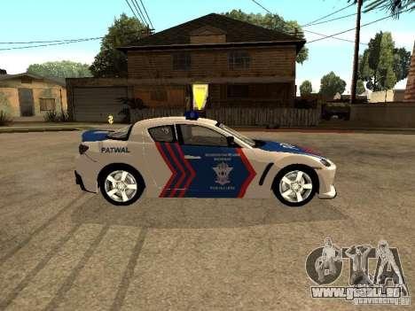 Mazda RX-8 Police pour GTA San Andreas laissé vue