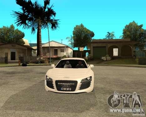 Audi R8 light tunable pour GTA San Andreas vue arrière
