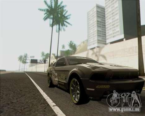 Ford Mustang Boss 302 pour GTA San Andreas sur la vue arrière gauche