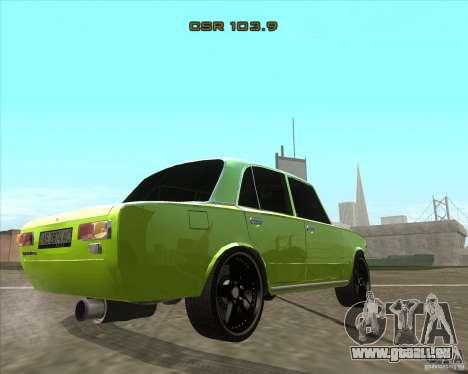 Version tuning de voiture VAZ 2101 pour GTA San Andreas laissé vue