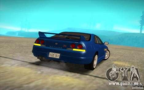 Nissan Skyline R33 GT-R V-Spec pour GTA San Andreas vue arrière