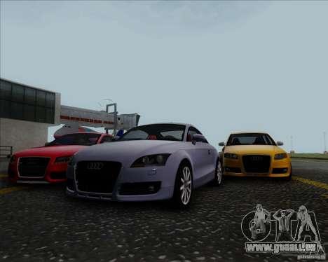 Audi TT für GTA San Andreas Innenansicht