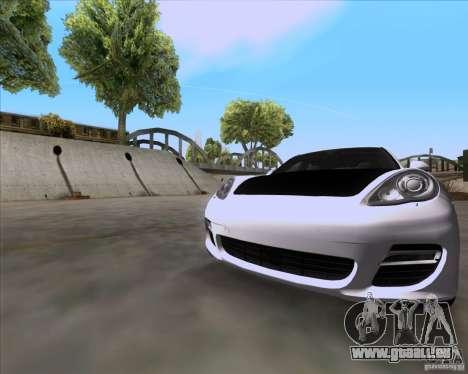 Porsche Panamera 970 Hamann pour GTA San Andreas sur la vue arrière gauche