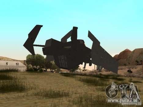 Vtol Crysis pour GTA San Andreas sur la vue arrière gauche