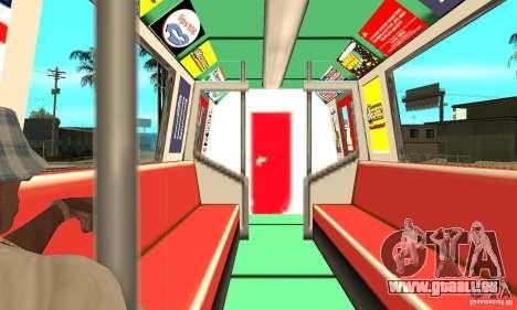 Liberty City Train Red Metro pour GTA San Andreas vue de droite