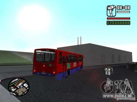 Busscar Urbanuss Pluss VW 17-230 EOD Alongado für GTA San Andreas Rückansicht