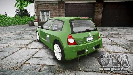 Renault Clio V6 pour GTA 4 Vue arrière de la gauche