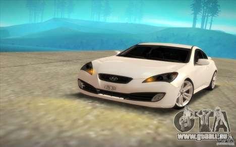 Hyundai Genesis 3.8 Coupe pour GTA San Andreas vue de droite