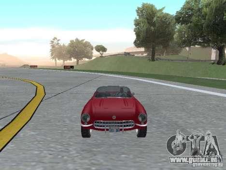 Chevrolet Corvette C1 pour GTA San Andreas vue arrière