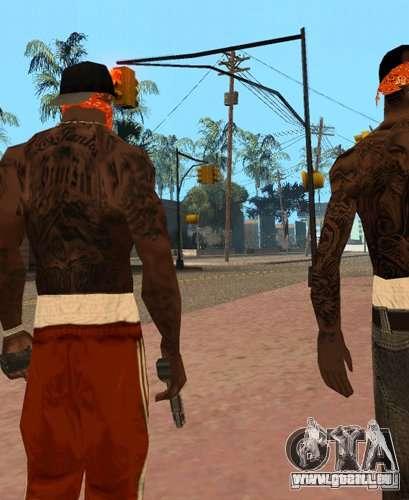 Bandes de remplacement, tatouages, vêtements, et pour GTA San Andreas deuxième écran