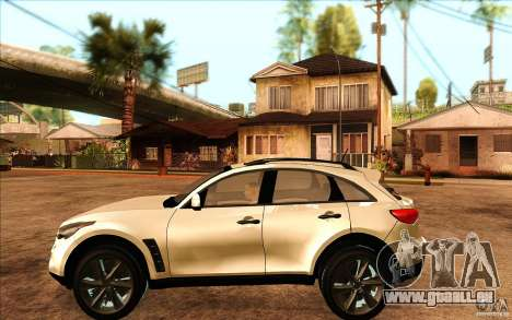 Infiniti FX50 Beta pour GTA San Andreas laissé vue