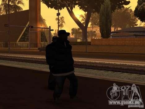 Vêtements d'hiver pour les Ballas pour GTA San Andreas deuxième écran