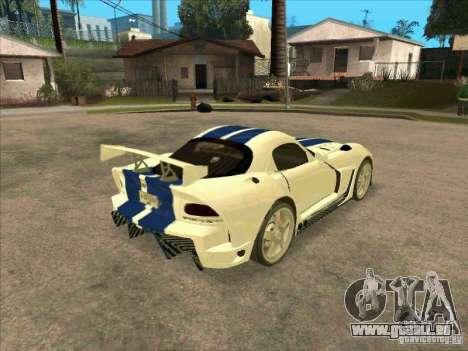 Dodge Viper from MW pour GTA San Andreas vue de droite