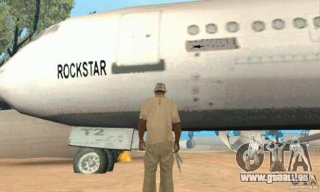 Einem verlassenen Flughafen in der Wüste für GTA San Andreas fünften Screenshot