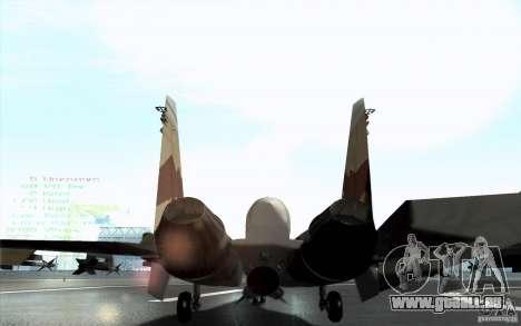 Le Su-37 Terminator pour GTA San Andreas sur la vue arrière gauche