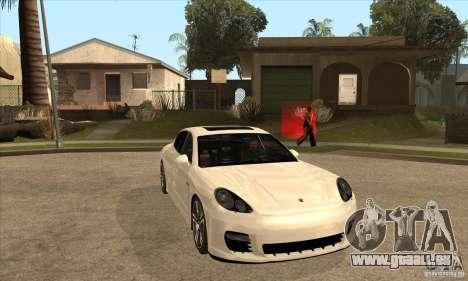 Porsche Panamera Turbo pour GTA San Andreas vue arrière