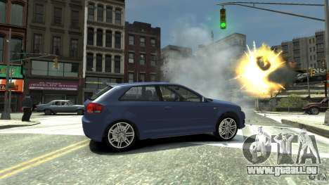 Audi S3 2006 v1. 1 ist nicht tonirovanaâ für GTA 4 rechte Ansicht