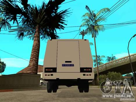 PAZ 3205 Police pour GTA San Andreas sur la vue arrière gauche