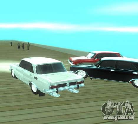 Moskvich 2140 Dragster pour GTA San Andreas vue intérieure