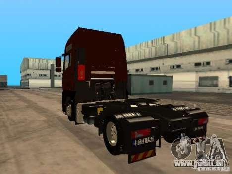 MAN TGA Vos Logistics pour GTA San Andreas sur la vue arrière gauche