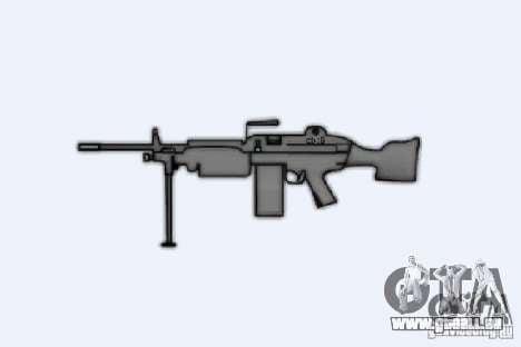 Mitrailleuse M249SAW pour GTA 4 quatrième écran