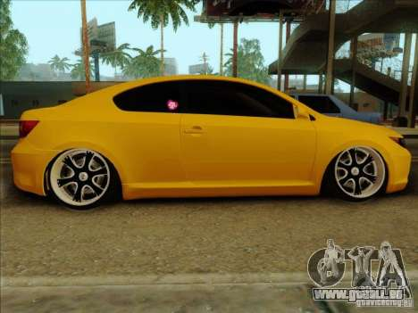 Scion tC 2012 für GTA San Andreas zurück linke Ansicht