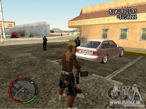 GTA IV HUD v1 by shama123 pour GTA San Andreas quatrième écran
