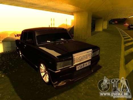 VAZ 2107 X-Style pour GTA San Andreas vue arrière