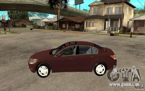 Honda Accord 2009 für GTA San Andreas linke Ansicht