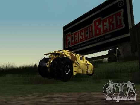 Army Tumbler v2.0 pour GTA San Andreas laissé vue