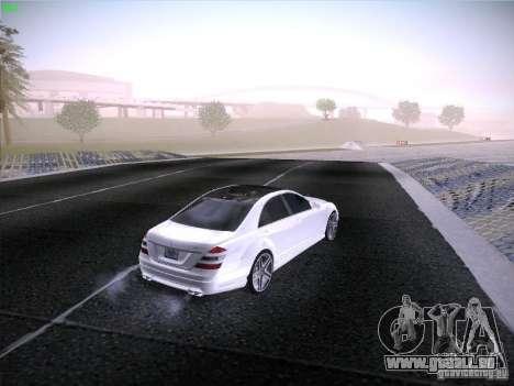 Mercedes-Benz S65 AMG V2.0 pour GTA San Andreas vue intérieure