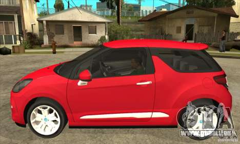 Citroen DS3 2011 pour GTA San Andreas laissé vue