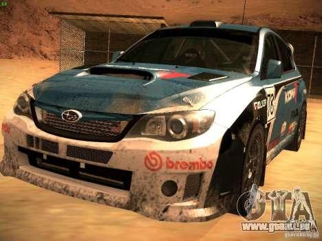 Subaru Impreza Gravel Rally pour GTA San Andreas roue