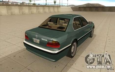 BMW 750iL 1995 pour GTA San Andreas vue de côté
