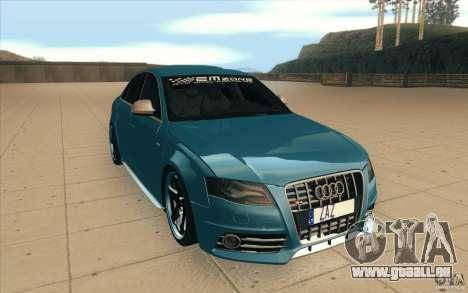 Audi S4 2009 pour GTA San Andreas vue arrière