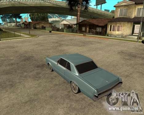 PONTIAC GTO 65 pour GTA San Andreas laissé vue