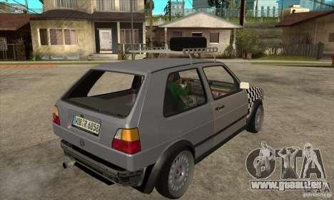 VW Golf Mk2 GTI pour GTA San Andreas vue de droite