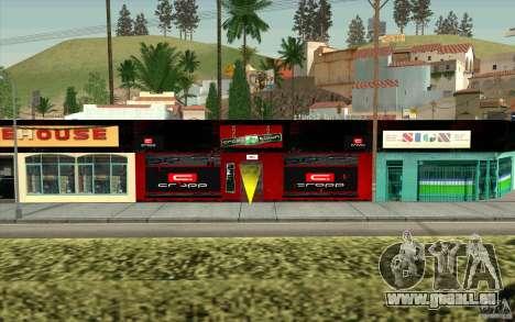 Cropp Town SHOP pour GTA San Andreas deuxième écran
