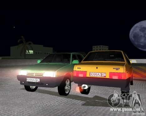 VAZ 21099 léger à l'écoute pour une vue GTA Vice City de la droite