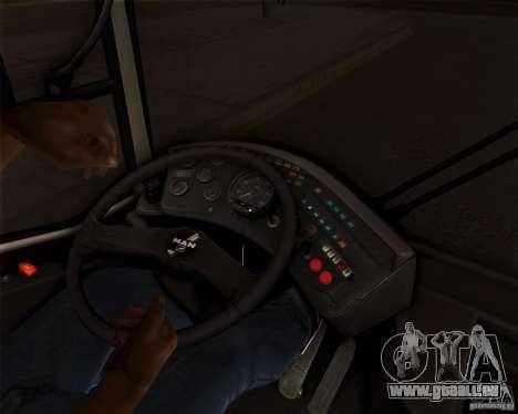 MAN SL202 pour GTA San Andreas vue intérieure
