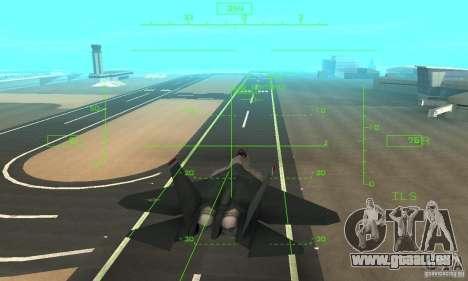 YF-22 Standart pour GTA San Andreas vue de côté